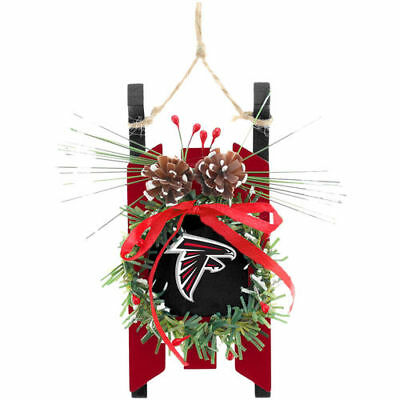 Atlanta Falcons Forever Collectibles Team Wood Sled Ornament Christmas