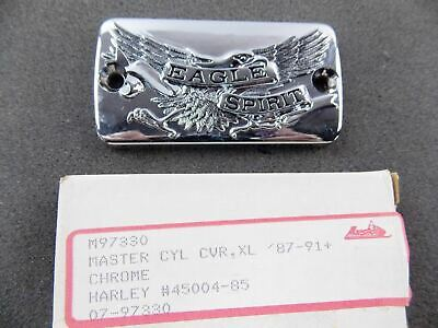"Nos Master Cylinder Chrome Cover Harley Davidson Xl  ""Eagle Spirit"" 45004-85"