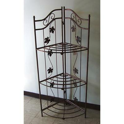 Cast Iron Indoor/Outdoor Foldable 3 Tier Baker's Rack Antique Bronze Finish