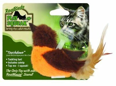 OurPets Play N Squeak Bird Touchdown Natural Hunting Instinct Safe Pet Cat Toy