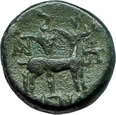 EPHESOS in IONIA 50BC Rare Authentic Ancient Greek Coin BEE STAG TORCH i66177