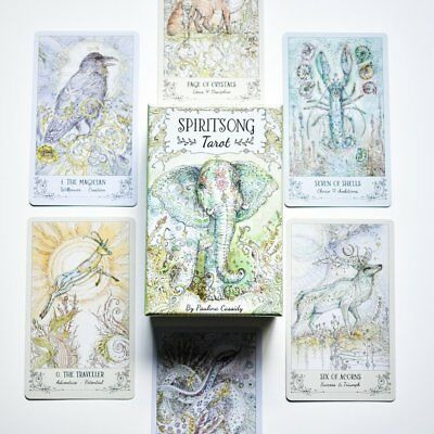 Spiritsong Tarot Paulina Cassidy 78 Card Deck + 108 Page Guidebook Boho Dreamy
