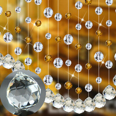 10PC 20mm Chandelier Clear Glass Crystal Round Faceted Ball Hanging Drop Pendant