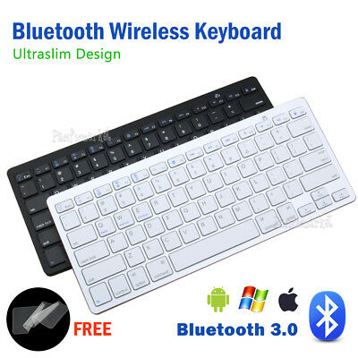 Ultra Slim Bluetooth Wireless Keyboard For Tablet IOS Android Cellphone Mac