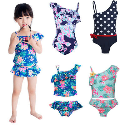 Girls Kids Baby Bikini Swimwear Tankini Set Bathers Swimmers Swimsuit Beachwear