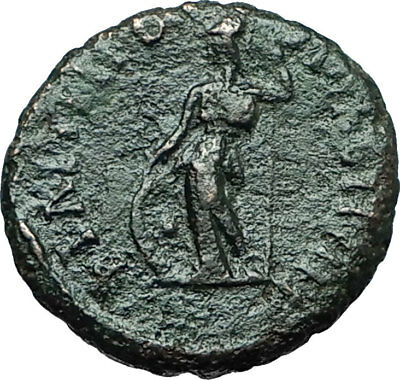 COMMODUS 177AD Philippopolis Thrace Authentic Ancient Roman Coin ATHENA i66202