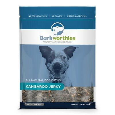 Barkworthies Kangaroo Jerky 4 oz | All Natural Dog Chews