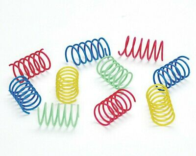 Ethical Pet Spot Colorful Springs Wide 10 count   Short Spiral Cat Toys