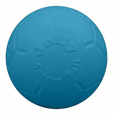 Jolly Pets Soccer Ball Blue 8 inch | Unscented Rubber Chew Toy for Dogs