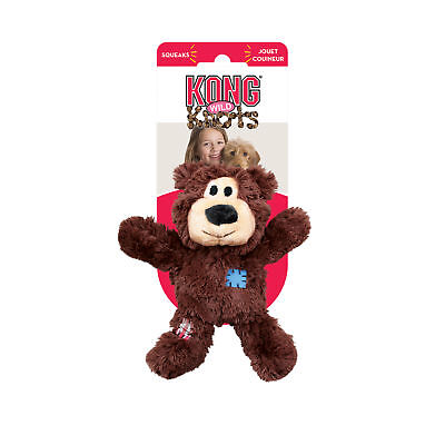 KONG Wild Knots Bear Squeaks Durable Internal Knotted Plush Soft Dog Toy XSmall