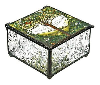 Tiffany Tree of Life Art Inspired Trinket Jewelry Dresser Vanity Box