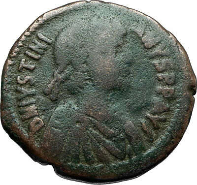 JUSTINIAN I the GREAT -  Antioch Follis Authentic Ancient Byzantine Coin  i66222