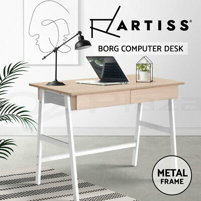 Artiss Computer Desk Study Office Desks Storage Study metal Drawer Table Student