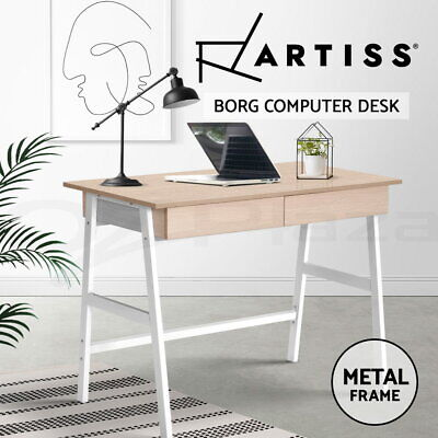 Computer Desk Office Storage Study metal Drawer Table Student Business
