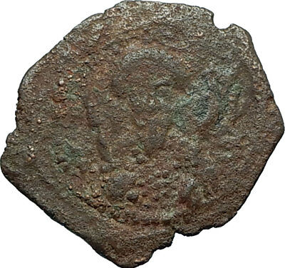 CRUSADERS of Antioch Tancred Ancient 1101AD Byzantine Time Coin CROSS i66244
