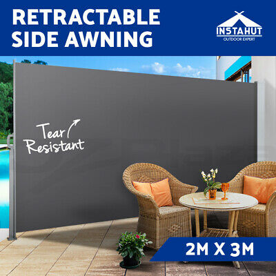 Instahut 2MX3M Retractable Side Awning Privacy Screen Shade Terrace Panel