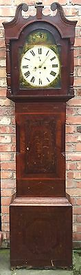 Oak & Mahogany 8 Day Inlaid And Cross Banded Long Case Grandfather Clock