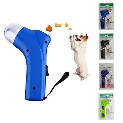 PET SNACK LAUNCHER dog or cat treat catapult auto pets food thrower training