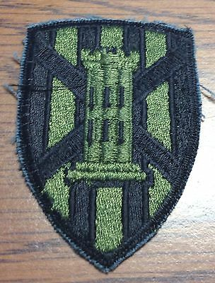 US Army 7th Engineer Brigade SSI Shoulder Patch - Subdued - Germany (b84)