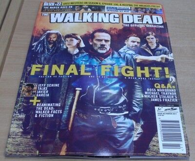 The Walking Dead magazine #22 Winter 2017 The Final Fight & more