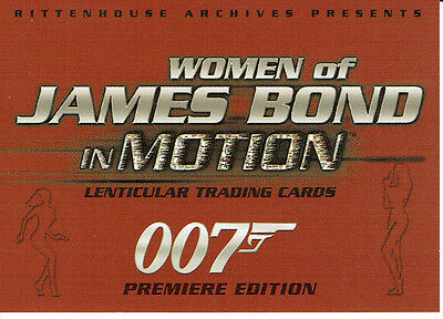 Frauen James Bond In Motion Promotion Karte P2