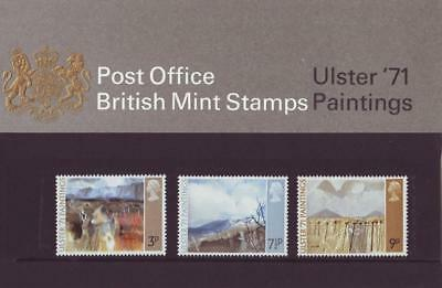 GB 1971 ULSTER PAINTINGS PRESENTATION  PACK No.26a SG 881 883 MINT STAMP SET.#26