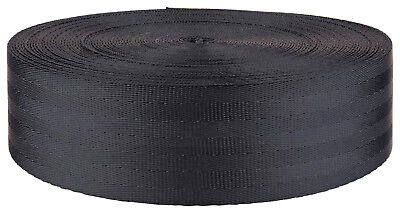 2 Inch Grey Seat-belt Polyester Webbing Closeout, 5 Yards