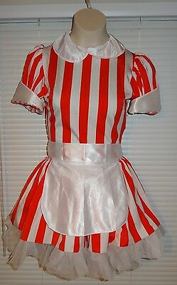 Dance Costume Art Stone Candy Stripe Maid Red White Tutu Ballet Lyrical Small SL