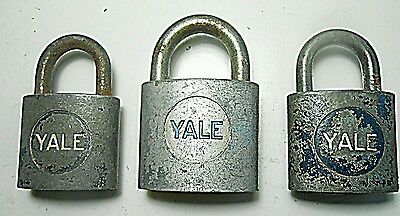 Lot of Yale Locks Collectible No Keys Vintage Antique Metal Close Locks