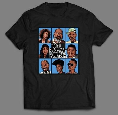 "FRESH PRINCE OF BEL-AIR PARODY ""THE BEL-AIR BUNCH"" T-Shirt FULL FRONT MANY SIZES"