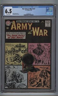 Our Army at War 127 (CGC 6.5) O/W pgs; 2nd all-Sgt. Rock issue; Kubert (c#16797)