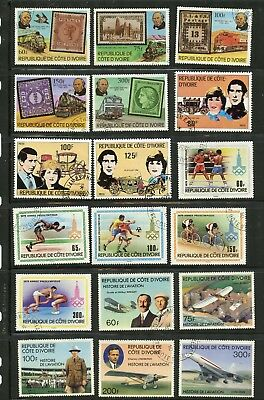 IVORY COAST--Collection of 45 different stamps