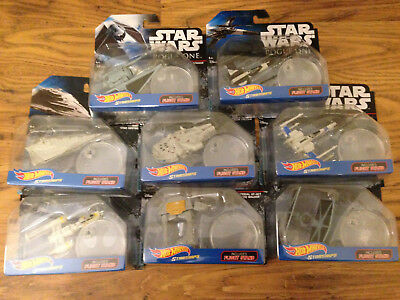 Star Wars Disney Mattel Hot Wheels Star Space Ships Rogue One Stand New Rare