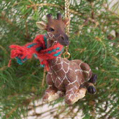 GIRAFFE with Scarf Tiny One Miniature Small Christmas ORNAMENT