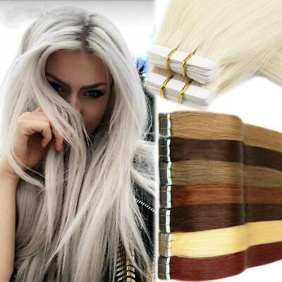 """Two Tone Seamlees Tape in 100% Human Hair Extensions Silky Sofy Straight 16-22"""""""