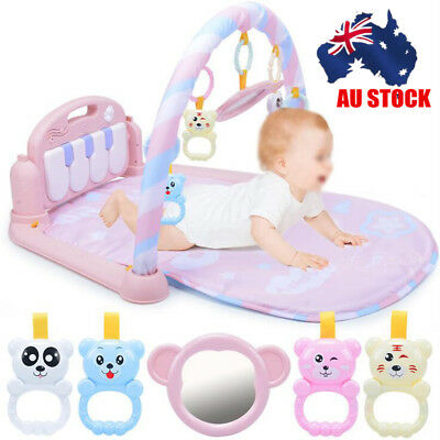 AU 3-in-1 Piano Music Lullaby Baby Toy Fitness Playmat Cushion Gym Play Soft Mat