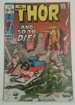 Thor # 190 - Marvel Comics - July 1971