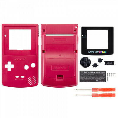 New Full Housing Shell Mod Repair Parts for Nintendo Game Boy Color Rose Red