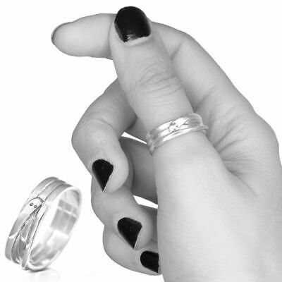 925 Solid Sterling Silver Ring Wrap Snake Band Handmade Jewelry Choose Size