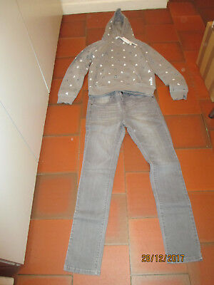 Sweat Capuche Gris Stars Wars+Jeans Gris Delave Ikks Junior We Are Young 16 Ans