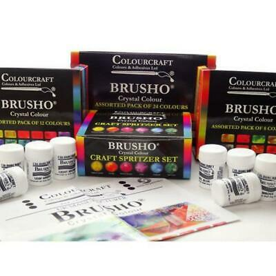 Brusho® Starter Sets 8 12 24 Spritzer Thickener & Wax Sticks
