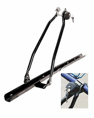 Bike Carrier Universal Car Roof Mounted Upright Bicycle Rack Stand Locking Cycle