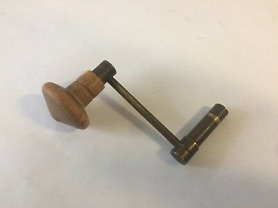 Wooden Handled Brass Size 14 Winding Grandfather Clock Key