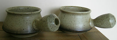 Vintage Set Of Two Iden Pottery Soup Bowls..rye Sussex
