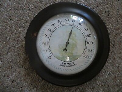 advertising wooden glass faced advertising thermometer Alan Painten Hanover SIGN
