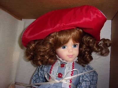 """Misty 14"""" Pittsburgh Originals Collectible Doll Stand original box - Made in USA"""