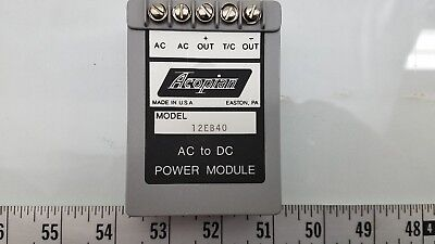 Acopian model 12EB40 DC POWER Supply 12 Vdc 0.4A out / 120Vac In (CS02.2)