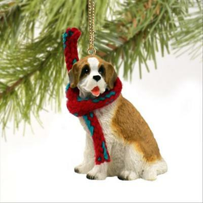 Saint Bernard Dog Tiny One Miniature Christmas Holiday ORNAMENT