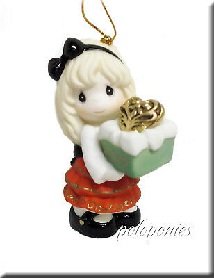 PRECIOUS MOMENTS May The Gift Of Love Be Yours This Season Ornament NIB