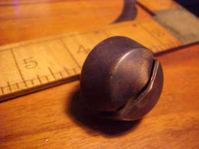 Antique Crotal Horse Leather Sleigh Bell Bronze Brass Small Original Working!
